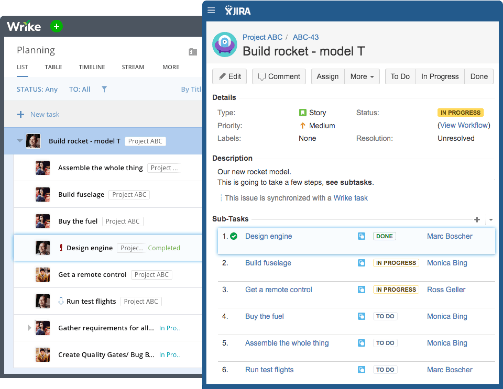Group JIRA epics, issues, and subtasks in Wrike